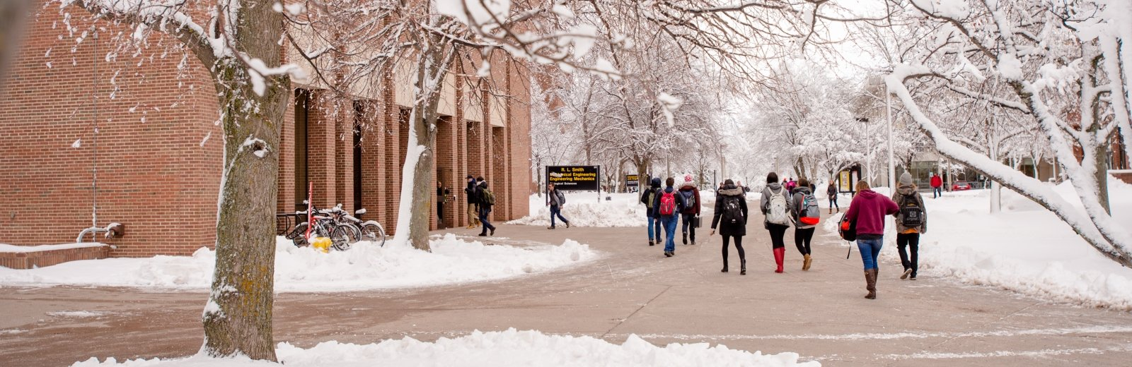 Campus during the winter.