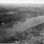 1923 aerial photograph of campus