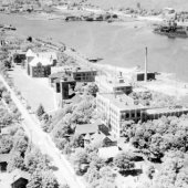 1950's aerial view of campus
