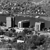 1985 aerial view of campus