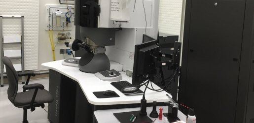 A view of the S-TEM set up.