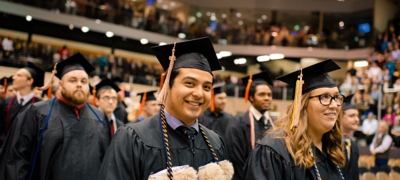 Student at commencement.