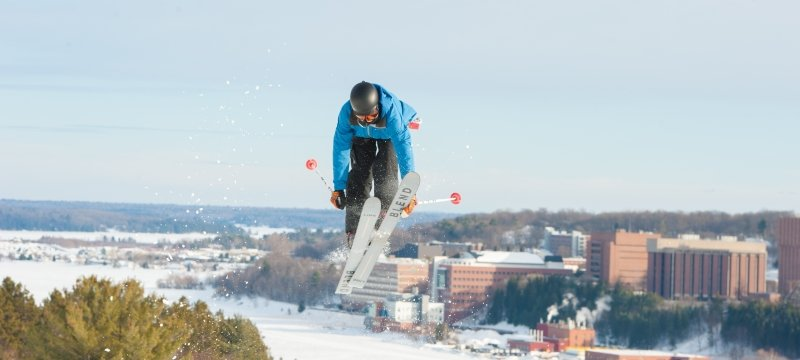 Skier at Mont Ripley.