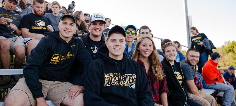 Students at a football game.