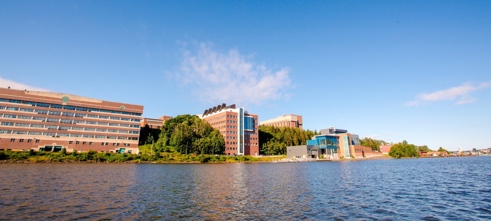 Michigan Tech campus from the water.
