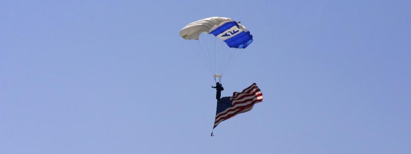 US Air Force Parachuter with American Flag