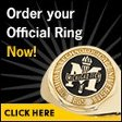"A photo of a class ring, superimposed with text reading ""Order your official ring now!"""