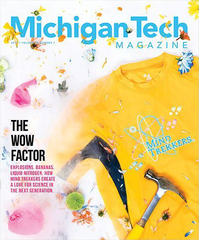 The cover of the most recent Michigan Tech magazine
