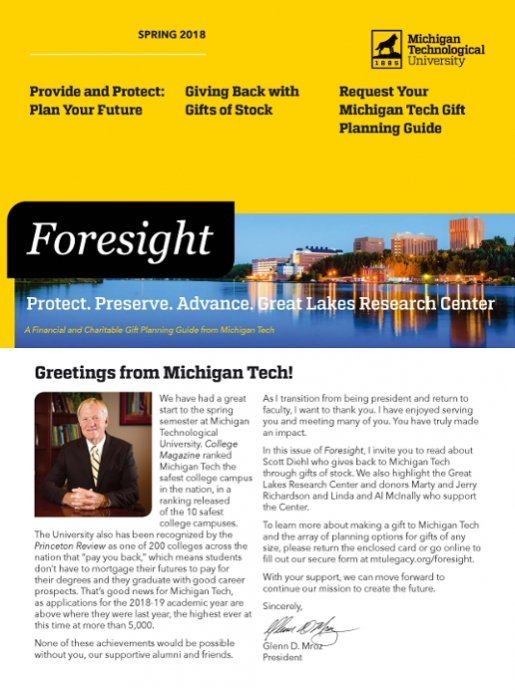 Spring 2018 Foresight magazine