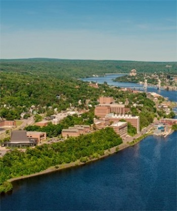 Aerial view of Houghton, MI