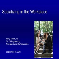 Socializing in the Workplace - Kerry Sutton