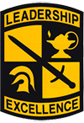 National Army ROTC Leadership Excellence logo shield