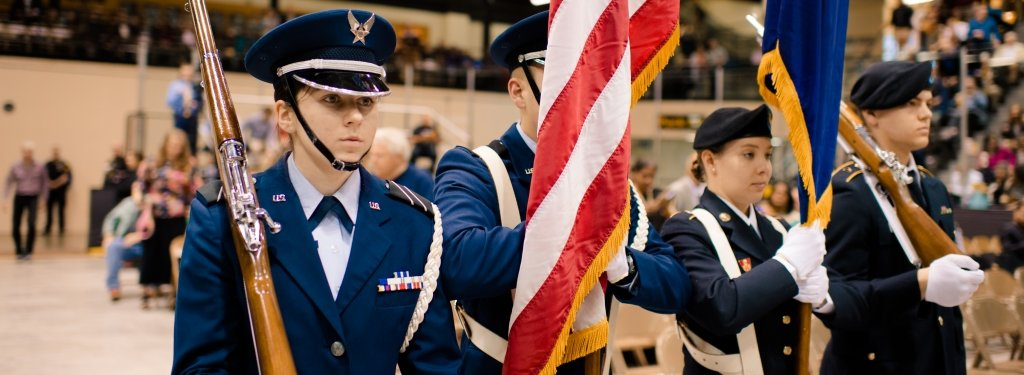 Michigan Tech AROTC Color Guard at Commencement