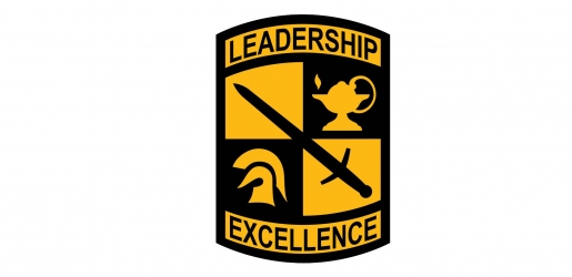 National Army ROTC Leadership Excellence shield logo