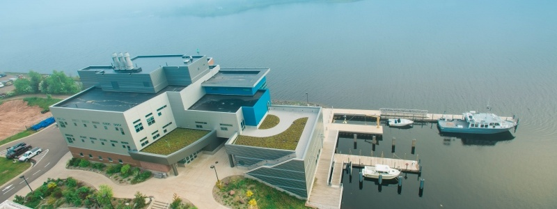 Aerial view of the Great Lakes Research Center