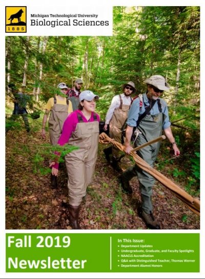 Fall 2019 Biological Sciences Newsletter Cover Image