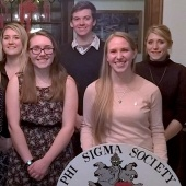 Members of Phi Sigma National Biological Honor Society pose for a photo