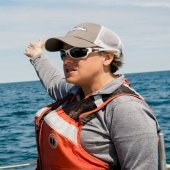 Amy Marcarelli teaching about Lake Superior