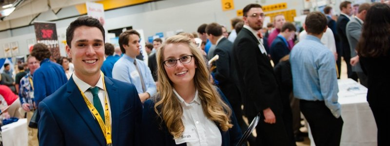 School of Business and Economics students at Career Fair.