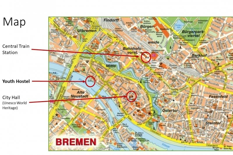 Map of Bremen Germany