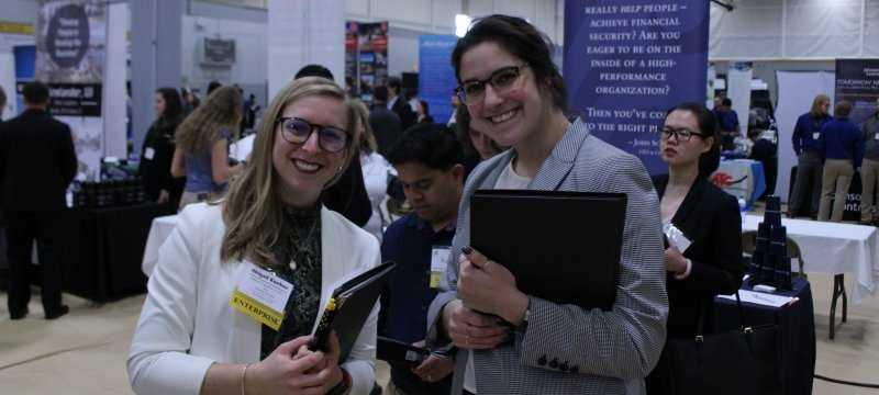 Two students at Career Fair