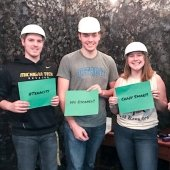 Four students who escaped the from our mine themed room