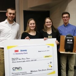 Third place winners of the 2018 Consumer Products Challenge