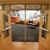 Image of Career Services Office Doors