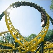 Yellow roller coaster