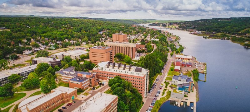 The Michigan Tech Campus and the Portage Waterway