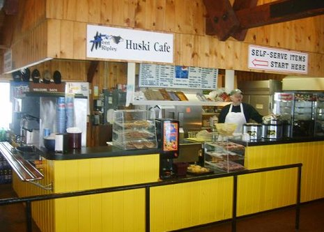 Inside of the Huskie Cafe.