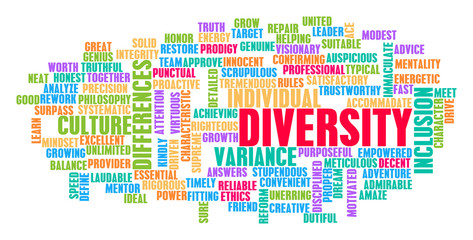 word bubble for diversity