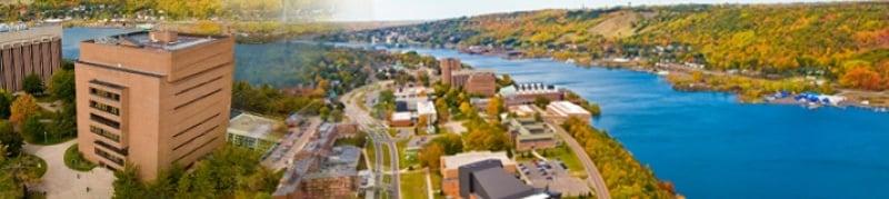 Michigan Tech's campus.