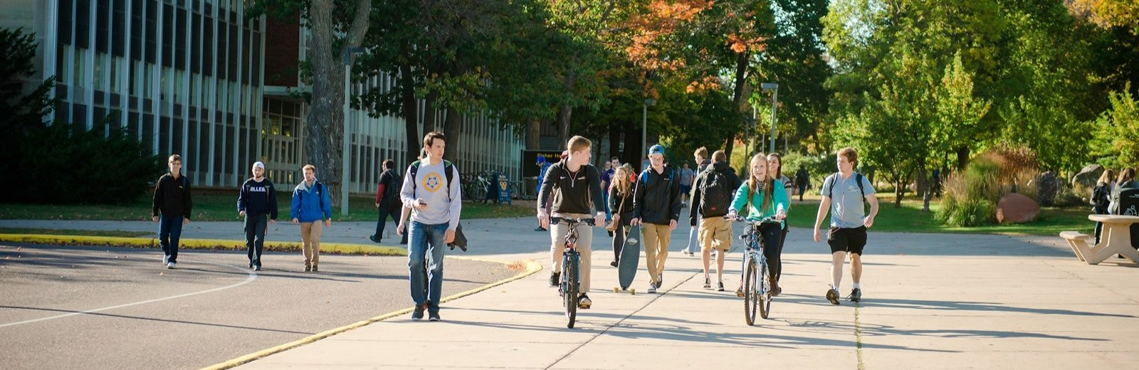 Students return to the campus of Michigan Tech