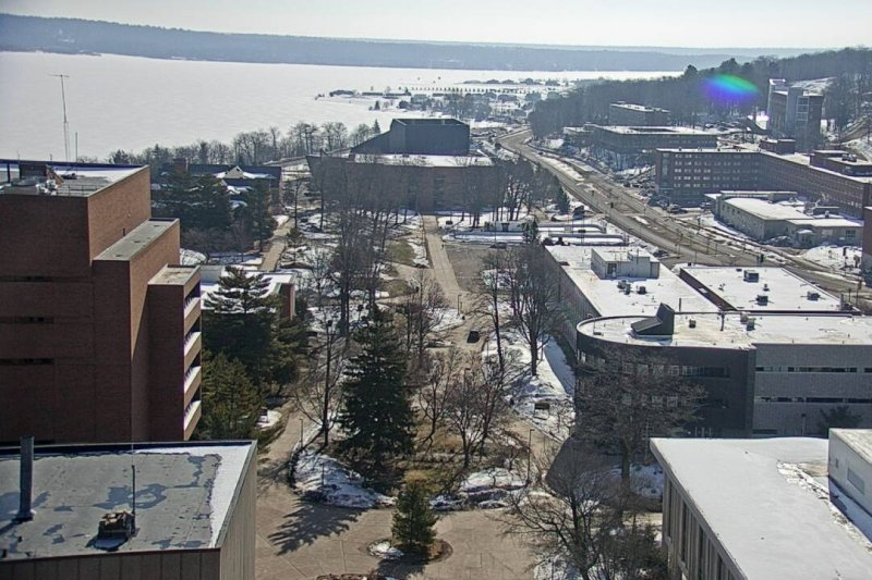 View of campus and the waterway.