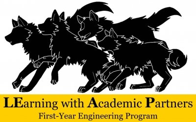 LEarning with Academic Partners wolf pack graphic