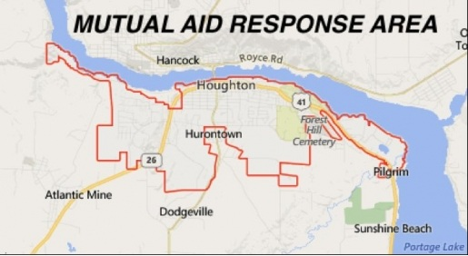 map of the mutal response area