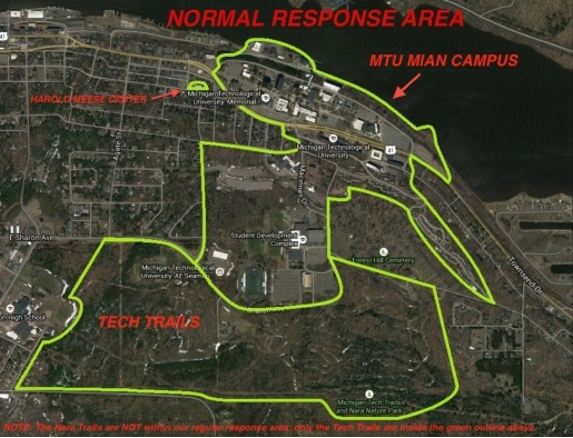 map of the ems response area