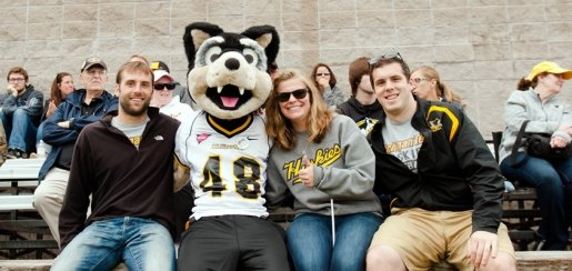 Michigan Tech students enjoy Homecoming with Blizzard.
