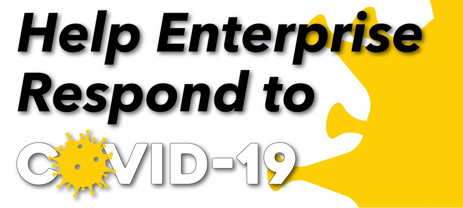 "Banner reading ""help Enterprise respond to COVID-19"""