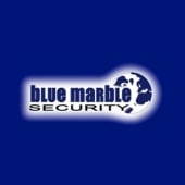 "Logo reading ""Blue Marble Security"""