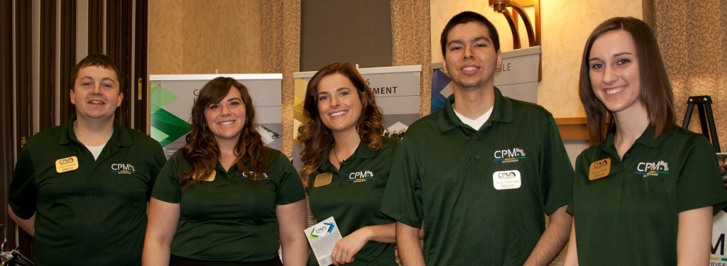 Five team members of the Consumer Product Manufacturing enterprise