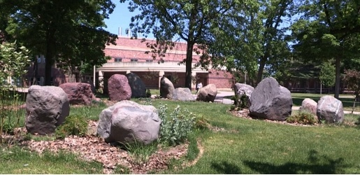 Photo of the Keweenawn Boulder Garden, during a sunny summer day.