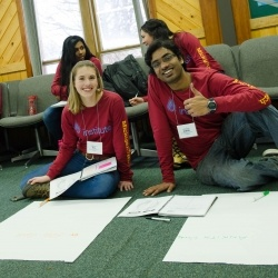 Students at the LeaderShape program.