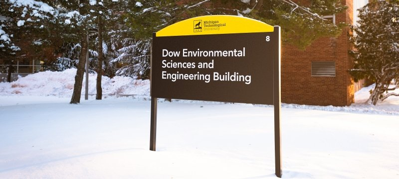 Dow Environmental Sciences and Engineering Building sign