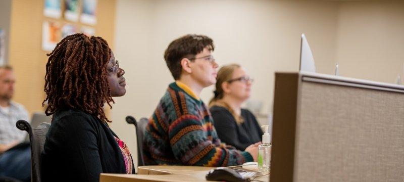 Online students attending a virtual orientation.