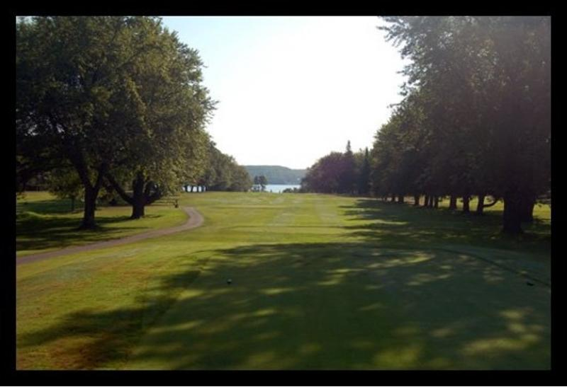 Seventeenth hole at the Portage Lake Golf Course.