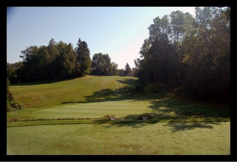 Fourth hole at Portage Lake Golf Course.