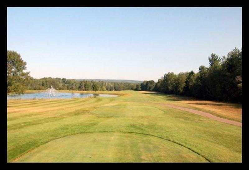 Second hole at Portage Lake Golf Course.