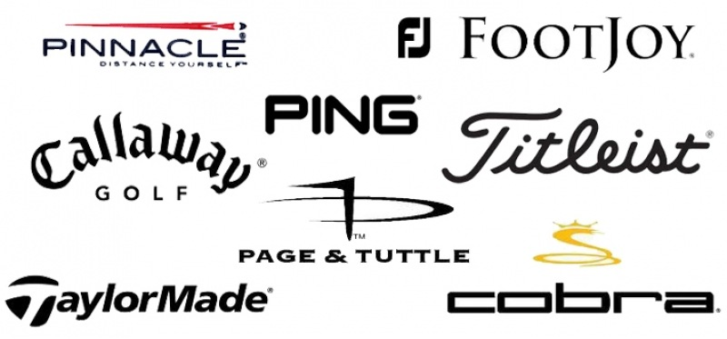 Pro Shop Brands available: Pinnacle, FootJoy, Titlelist, Callaway, Ping, and Page and Tuttle.